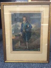 "Thomas Gainsborough ""Blue Boy"" Framed Signed Print 19"" x 15"""