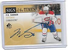 P.K. SUBBAN 2012/13 UPPER DECK SP SIGN OF THE TIMES AUTOGRAPH AUTO -SP!!