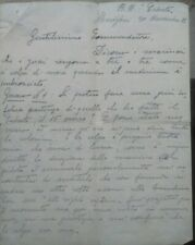 1922 43) Exceptional Letter Diary Captain Viganoni Gunship (Caboto IN Chinese