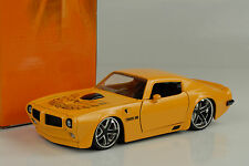 1972 Pontiac Firebird tuning custom yellow amarillo 1:24 Jada