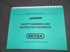 BERSA, THUNDER SERIES, OPERATING &   INSTRUCTION MANUAL,   24 Pages