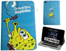 Para Apple iPad Mini 1 2 3 4 Spongebob Squarepants Diversión Niños Funda Dibujos Animados