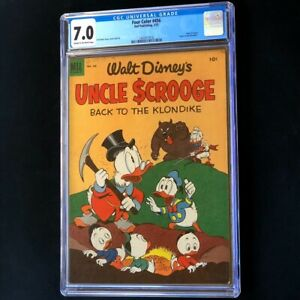 Four Color #456 💥 CGC 7.0 💥 Carl Barks Uncle Scrooge Klondike Comic Dell 1953