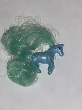 Vintage Galoob Cutie Club Colt Horse Collection Rare Animals Tiny Blue Teal