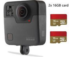 Refurbished GoPro Fusion 360 Degree Digital VR 5.2K HD Action Camera 2x 16G card