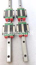 2 sets HGR20-400mm Hiwin Liner rail & 4 pcs HGW20CC Block Bearing