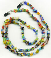 Unique MILLEFIORI Eyeglass~Glasses Holder Necklace Chain *Custom Length*