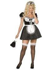 Ladies Plus Size French Maid Fancy Dress Costume Plus Size 20 22