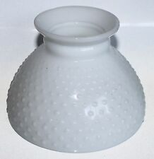 """Vintage Glass Lamp Shade Hobnail White Opaque Globe 5.5"""" Tall Lighting Fixture"""