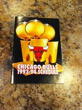 1993-94 Chicago Bulls Basketball Schedule Pocket Calendar