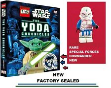 NEW Lego Star Wars The Yoda Chronicles & minifig special forces commander Book