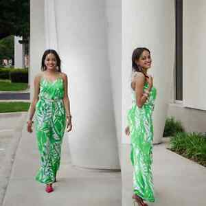 Lilly Pulitzer For Target Palm Leaf Women's Jumpsuit In Green Size: Medium