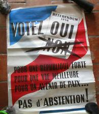 """Affiche """" De Gaulle """" """" René  Coty """" - Référendum 1958"""