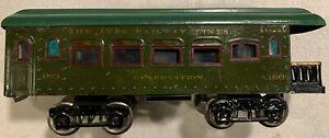 Ives 186 Vintage Standard Gauge Green Observation Car