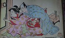 1800 ANTICO SHUNGA KITAGAWA UTAMARO EROTICO EROS OLD EROTIC BOOK DIPINTO A MANO