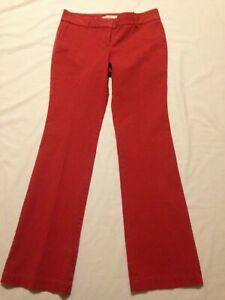nwt Ann Taylor Loft Marisa boot cut red chino pants women's size 2
