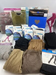 Lot of 24 Pieces - Ladies Assortment of Panty Hose And tights Misc Sizes