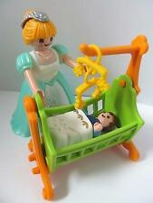 Playmobil Dollshouse/Victorian/Palace furniture/figures: Lady & baby in crib NEW