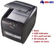 Rexel Paper Shredder Stack and Shred 50X Auto Feed Cross Cut Paper Slicer