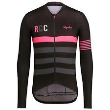 NEW Rapha RCC Men's Cycling Jersey S Pro Team Long Sleeve Midweight Black Pink