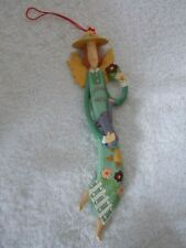Gardening Angel Chrismas Ornament 8 1/2""