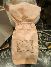ancien sac en papier sachet dragées de bapteme epoque 1930 rose et doré