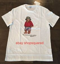 NEW NWT RALPH LAUREN POLO BEAR BEACH SWIM MENS TEE T SHIRT WHITE SZ LARGE L