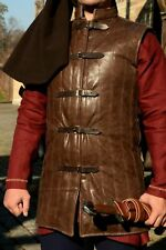 Medieval thick padded Faux Leather Gambeson Aketon/ Jacket SCA LARP