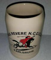 Paul Revere N.C.O. Club Karlsruhe Germany stein mug Collectible Souvenir Beer