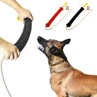 K9 Dog Training Bite Tug&Leather Whip for Police Dogs German Shepherd SCHUTZHUND