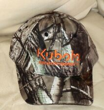 NEW~Camo Real Tree Hardwoods 6 Panel Camouflage Cap~KUBOTA WINCHESTER lettering
