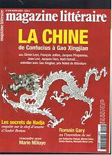 MAGAZINE LITTERAIRE N°429  2004  LA CHINE DE CONFUCIUS A GAO XINGJIAN