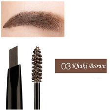 2 En 1 Lápiz de cejas Delineador Ojos Crema Pomada con cepillo Maquillaje