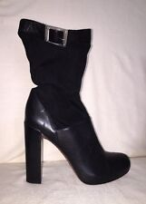 Rachel Zoe Black Charlie High Heel Booties with Buckle Detailing Size 8.5