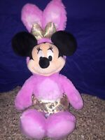 """Disney Store Authentic Minnie Mouse Easter Bunny Pink Cute Plush Toy Doll 18"""""""