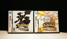 Pokemon White 1 & 2 Versions Nintendo DS Both COMPLETE w/ Manuals 2011-12