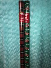 2 Nip Red Truck Christmas And Buffalo Check Wrapping Paper Gift Wrap 2-35 Sq Ft