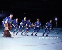 NHL 1960's St. Louis Blues Starting Line Up Color Pic 8 X 10 Photo Free Shipping
