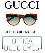 GUCCI SUNGLASSES WOMAN GG 0035 S 003 солнечные очки GLITTER LUXURY EYEWEAR New
