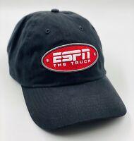Baseball Hat Cap Dad Hat ESPN Gear The Truck Black Adjustable Strap Back Hat