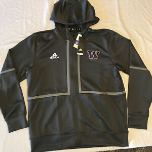 NWT's Adidas Game Mode Washington Huskies Football Hoodie Gray Pullover Size M