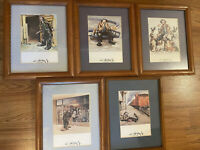 Emmett Kelly Clown 8 X 10 Framed Print Lot Of 5 Vintage Unique Home Sweet Home