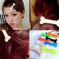 Fashion Lovely Women Gril Vivid Dog Bone Hair Clips Side Hairpin Colorful ajgl X
