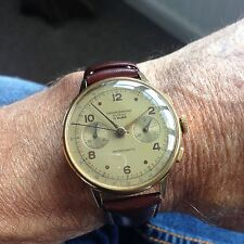 Vintage men's Chronograph Landeron cal 151 Swiss watch.