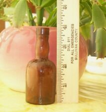 Antique BROWN small BOTTLE Embossed E B & Co Ld BREFFIT signed Vintage