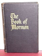 RARE LEATHER OVERSIZED LDS BOOK of MORMON 77+ VERY RARE PHOTOS 1966 VINTAGE