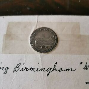 19TH CENTURY TOKEN. BIRMINGHAM WORKHOUSE. SILVER SHILLING. DATED 1811.