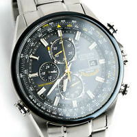 Men's Citizen JY0040-59L Eco-Drive BLUE ANGELS SKYHAWK AT Stainless Steel Watch