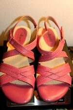 SOFTSPOTS PILLOWTOP WOMEN'S SHOES SANDALS SIZE-6,5 M PINK GENUINE LEATHER NWOB