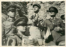 GENERAL TOUSSAINT GRANDES MANOEUVRES ITALIENNES AGENCE TRAMPUS 1939